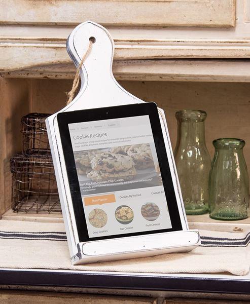 Fresh White Kitchen Tablet Holder