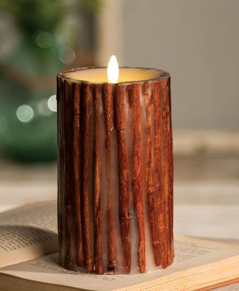 "Cinnamon Stick Luminara, 4"" x 7"""