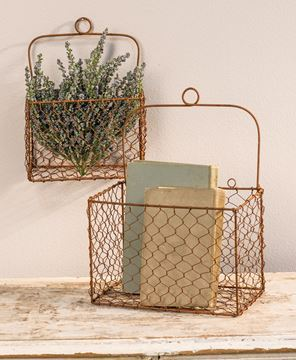 Picture of Chicken Wire Wall Baskets, 2/set