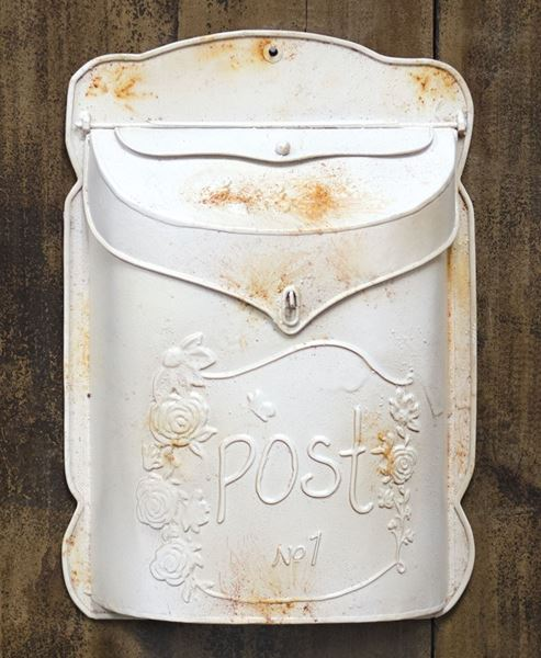 Rustic White Post Box