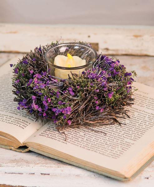 Lavender Twig Votive Ring