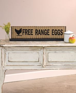 Free Range Eggs Metal Standing Sign