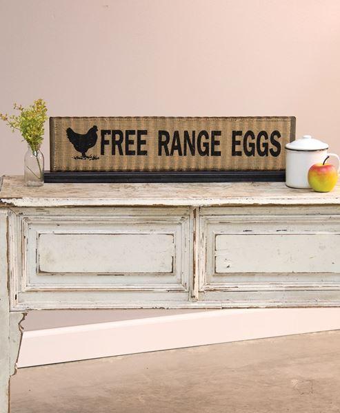 Free Range Eggs Metal Standing Sign