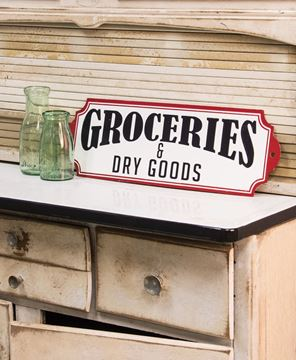 Groceries & Dry Goods Plaque