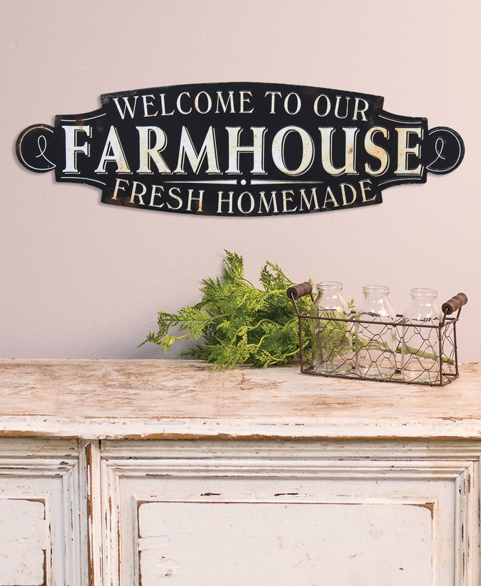 Col House Designs Wholesale Welcome To Our Farmhouse Plaque