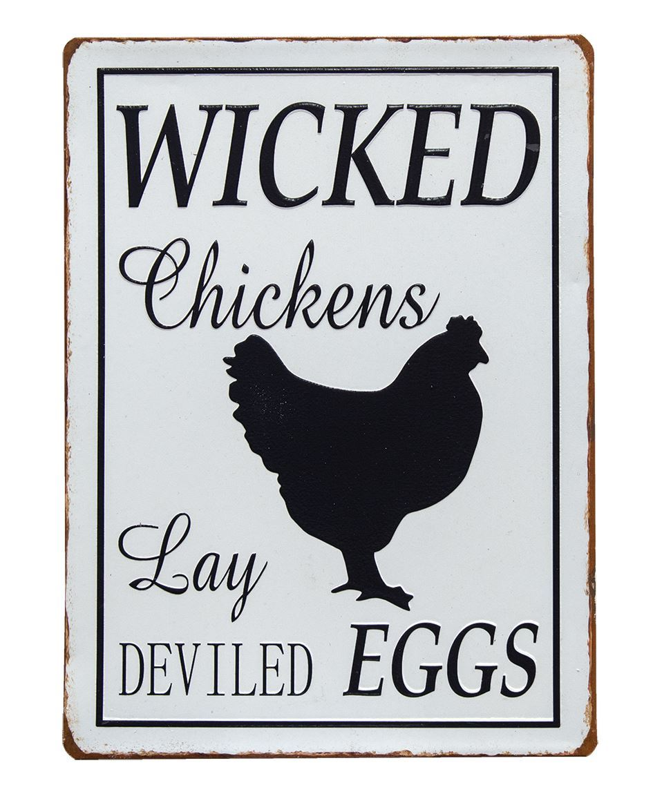 Craft House Designs Wholesale Wicked Chickens Plaque