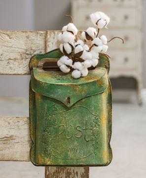 Aged Green Post Box