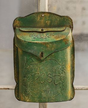 Aged Green Post Box