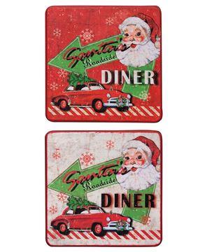 Santa's Diner Coaster Set