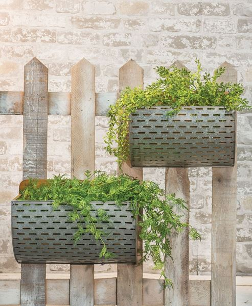 Olive Bucket Wall Baskets