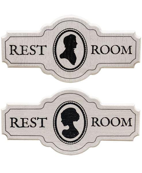 Victorian Restroom Sign Set