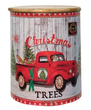Vintage Christmas Canisters 3/Set