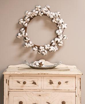 "Cotton Wreath, 17"""