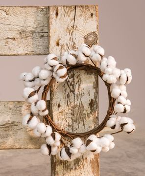 Cotton Wreath, 12""