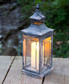 Picture of Antique Victorian Glass Lantern