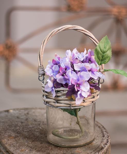 Glass Jar with Willow Handle
