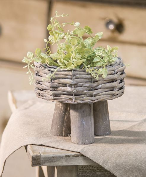 Willow Basket Planter, Small