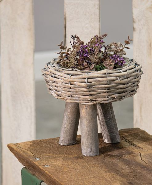 Willow Basket Planter, Large