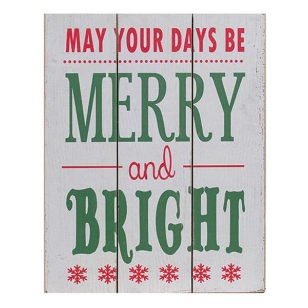 Merry and Bright Plaque