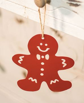 Jolly Red Gingerbread Ornament