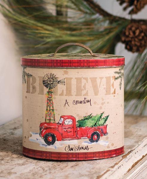 Country Christmas Tin