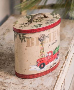 Country Christmas Tin