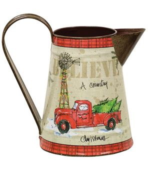 Country Christmas Pitcher