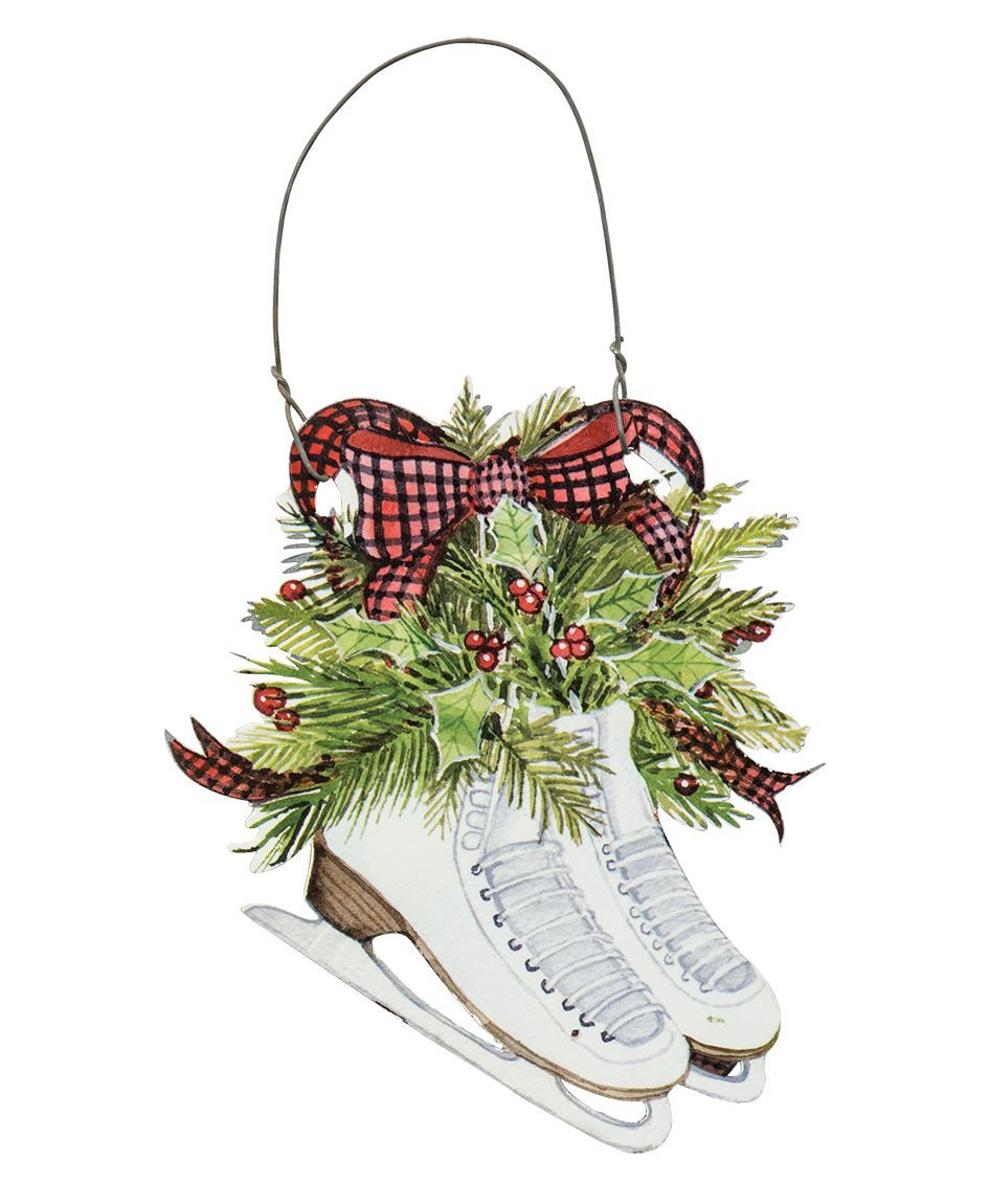 Craft House Designs - Wholesale| Ice Skates & Holly Ornament