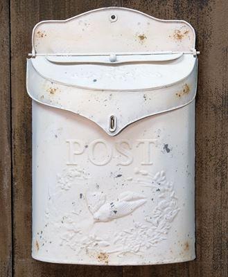 Vintage White Post Box