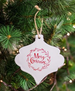 Merry Christmas Enamel Ornament