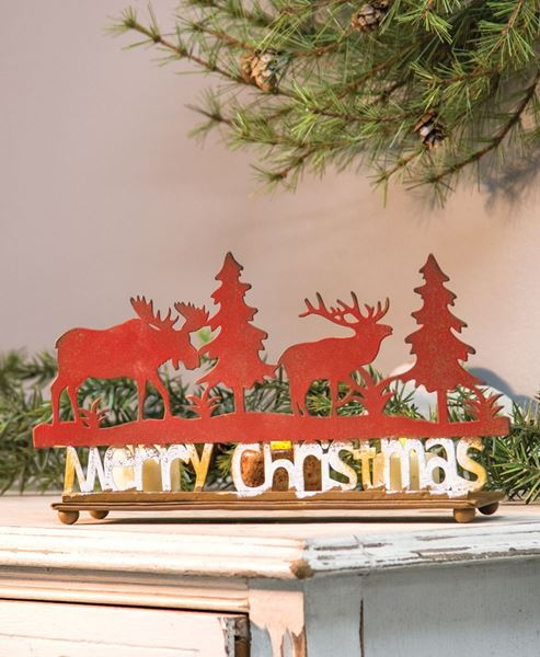 Moose Forest Christmas Silhouette