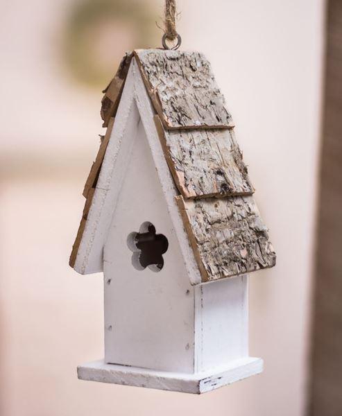 White Flower Birdhouse