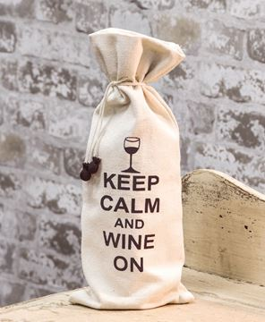 Keep Calm Wine Cover