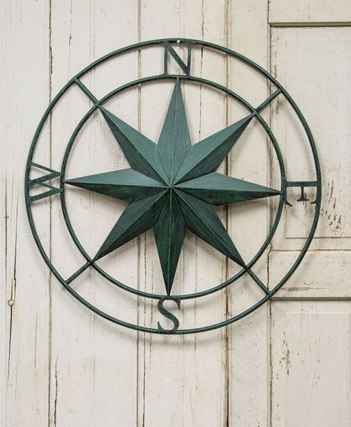 Green Compass Rose Wall Hanging