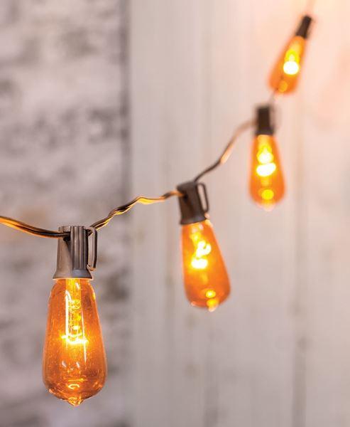Orange Edison String Lights