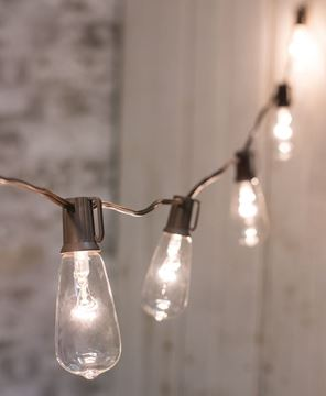 Clear Edison String Lights, 10 ct.