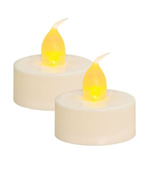 White Tealights, 2/pk