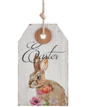 Wooden Easter Tag