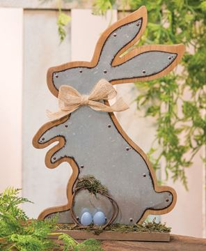 Metal Bunny Plaque