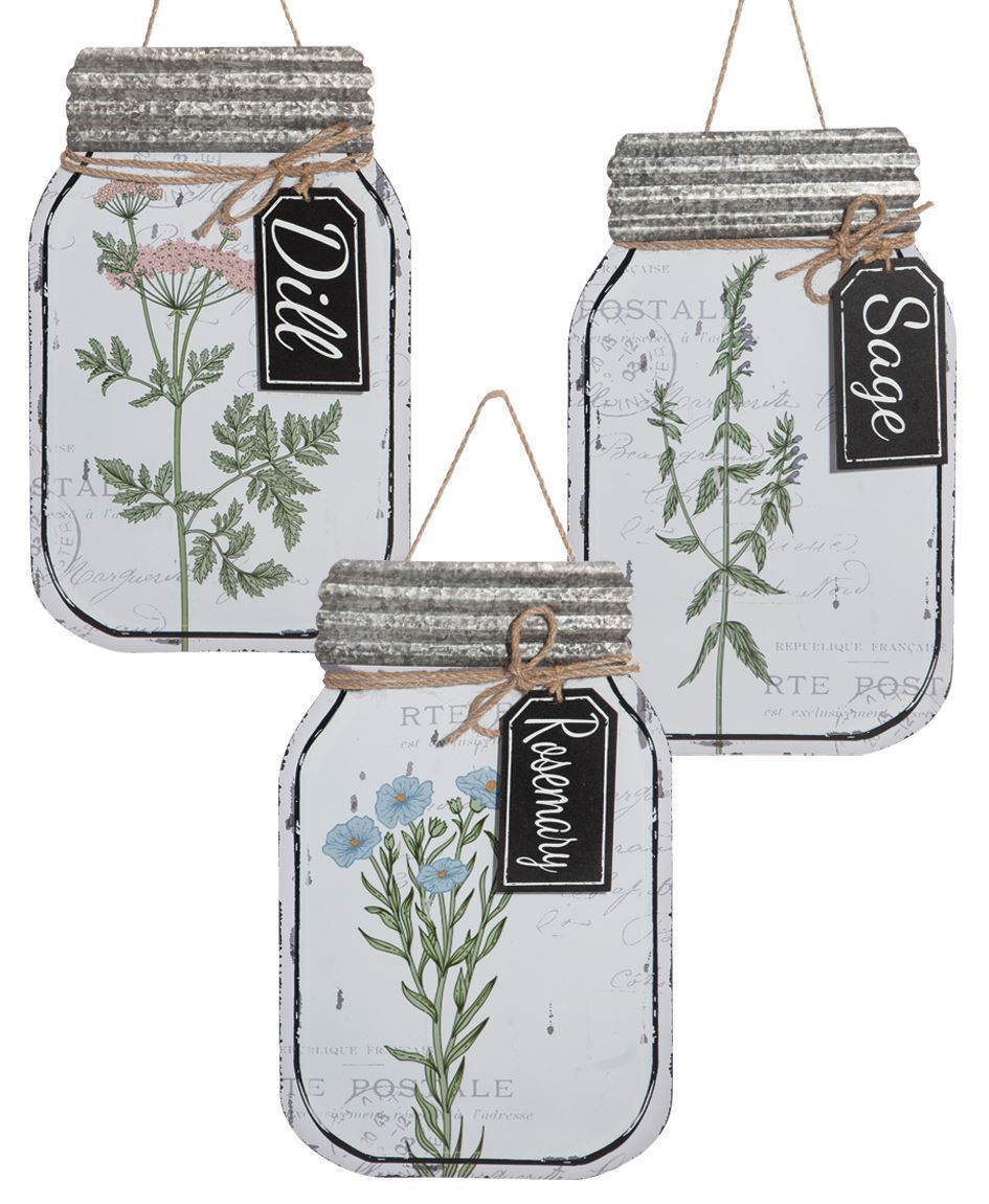 Craft House Designs Wholesale Herb Enamel Mason Jar