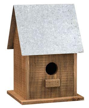Tall Wooden Birdhouse
