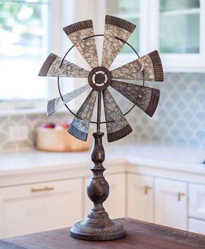 Rustic Windmill Pedestal
