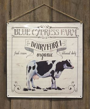 Blue Cypress Farm Enamel Plaque