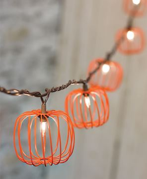Wire Pumpkin Light Strand, 10 ct.