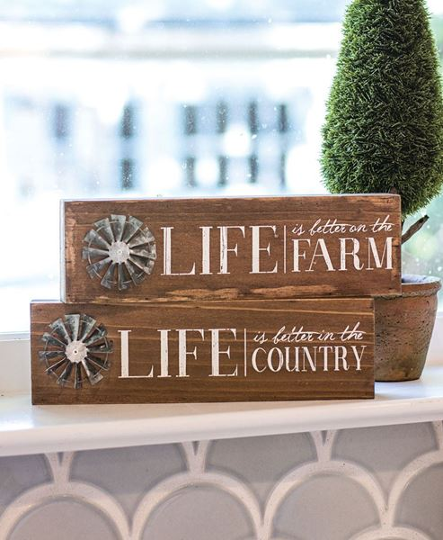 Farm Life Windmill Sign
