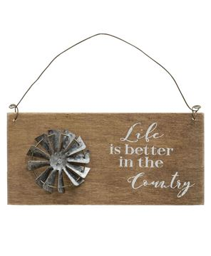 Country Life Windmill Hanging Sign