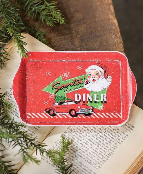 Santa's Diner Mini Tray
