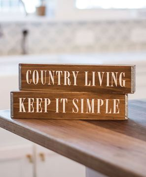 Keep it Simple Box Sign