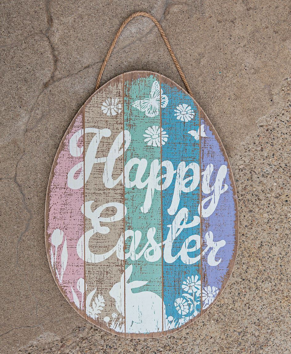 Craft House Designs Wholesale Happy Easter Wooden Egg