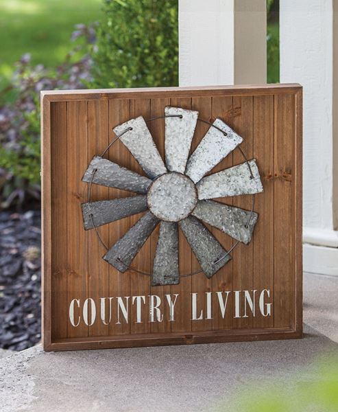 Craft House Designs Wholesale Country Living Windmill Sign